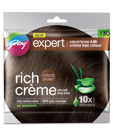 Godrej Rich Cream Hair Color Natural Brown 4.00