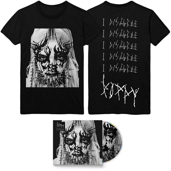 Poppy - 'I Disagree' Album Artwork Tee & CD Bundle