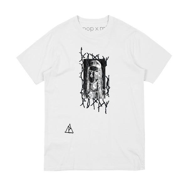 NEGATIVE FACE WHITE T-SHIRT