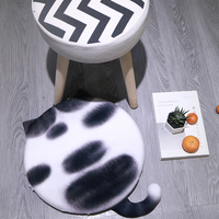 PADDY faceless fat cat 3D printed memory foam seat cushion