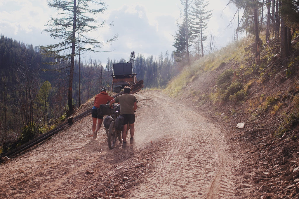 logging roads idaho bike packing