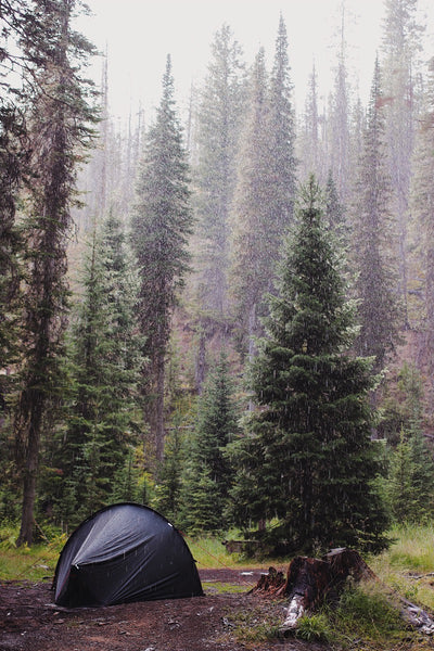 Tent in the rain idaho
