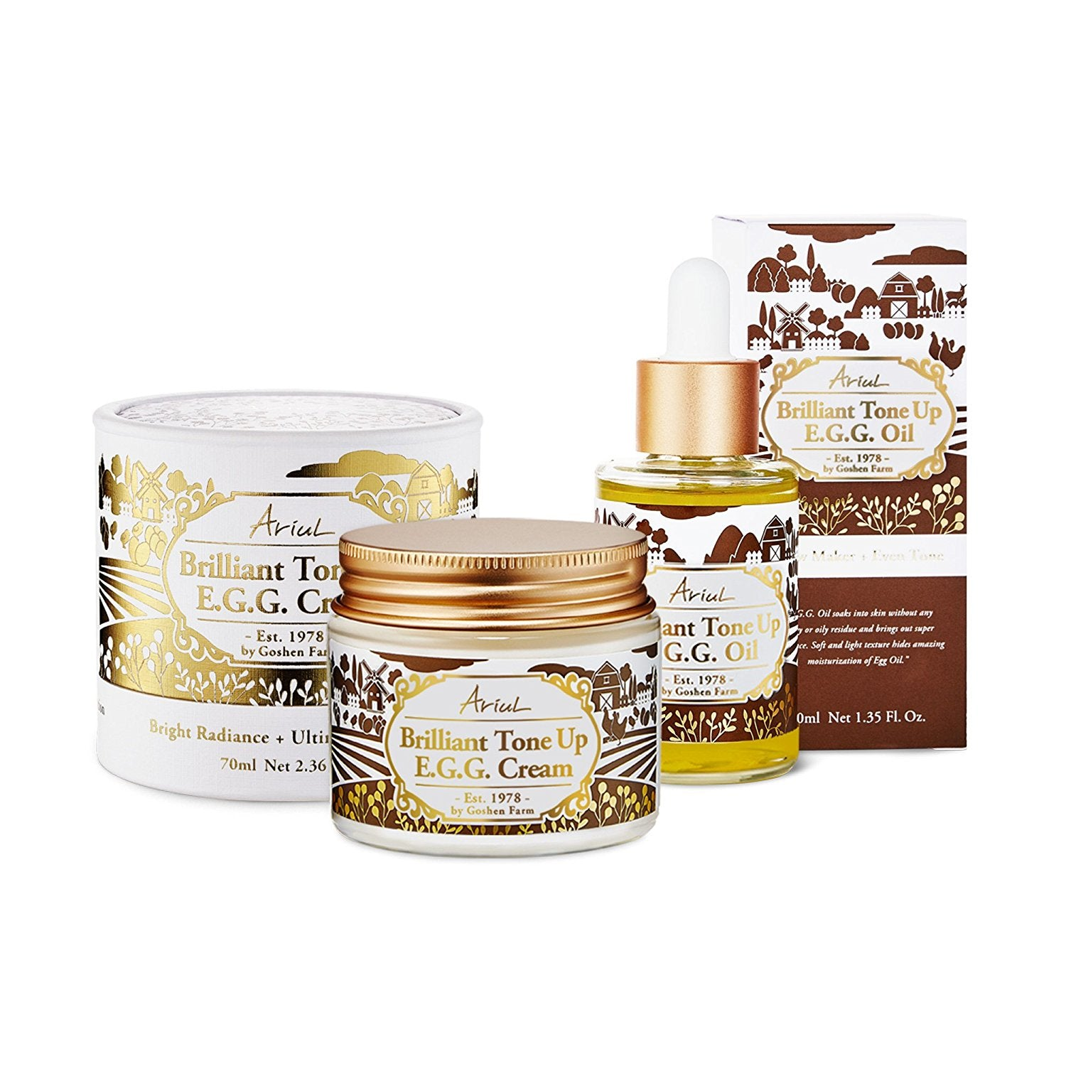 Ariul Brilliant Tone Up EGG Bundle