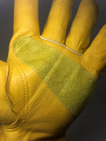 Double stitched leather glove