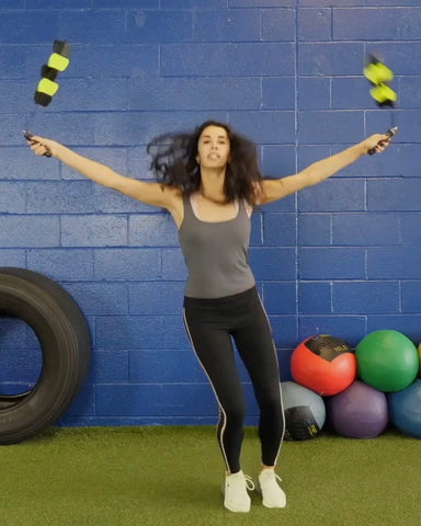 Jump Rope Exercise including jumping side to side | Jumping Rope | Regular Jumps | The Different Jumps And Lower Body Exercises | Spin Strong