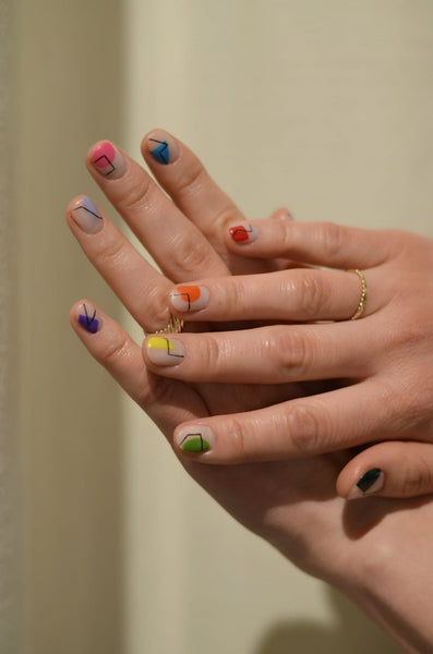 Babetown Vacation Nails Colorful