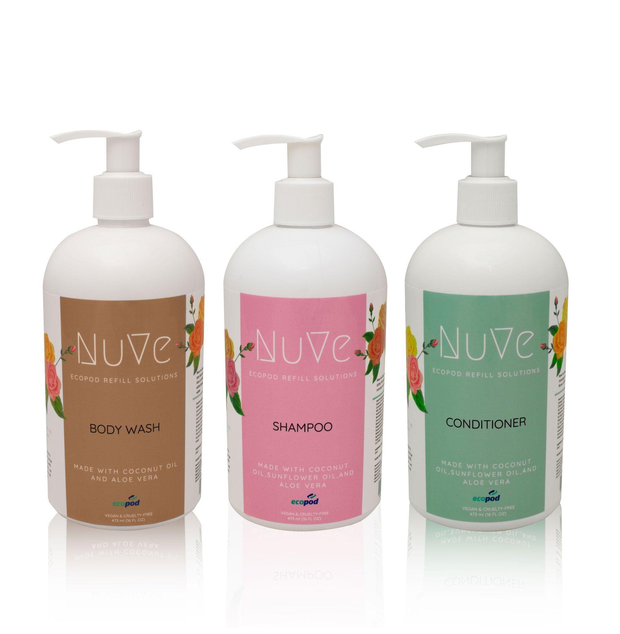 Shampoo, Conditioner, & Body Wash Trio