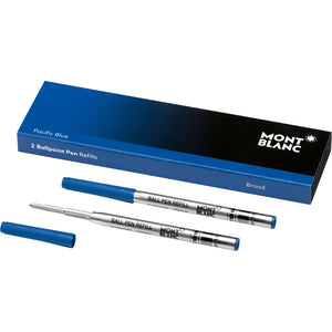 2 recharges de stylo bille (B) Pacific Blue - Boutique-Officielle-Montblanc-Cannes