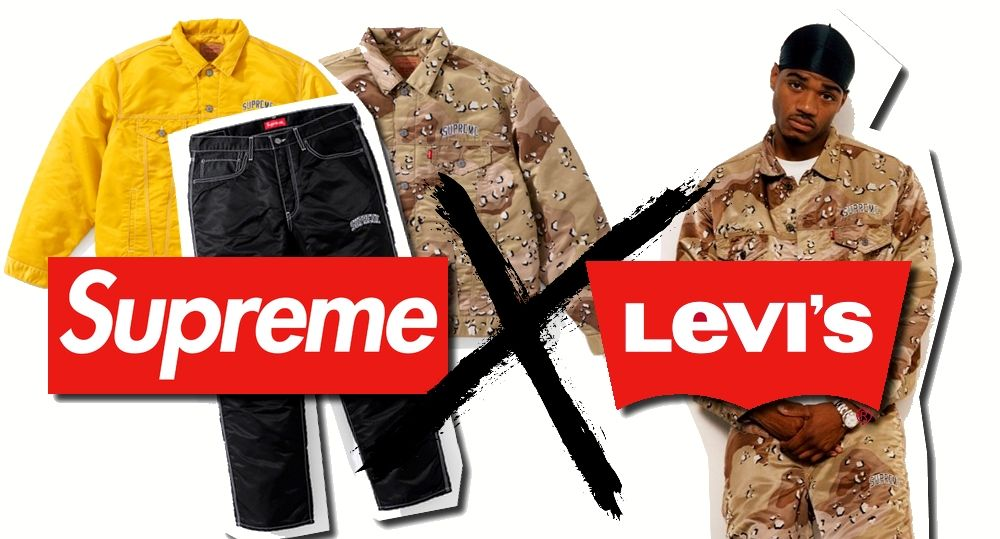 collaboration supreme x levi's