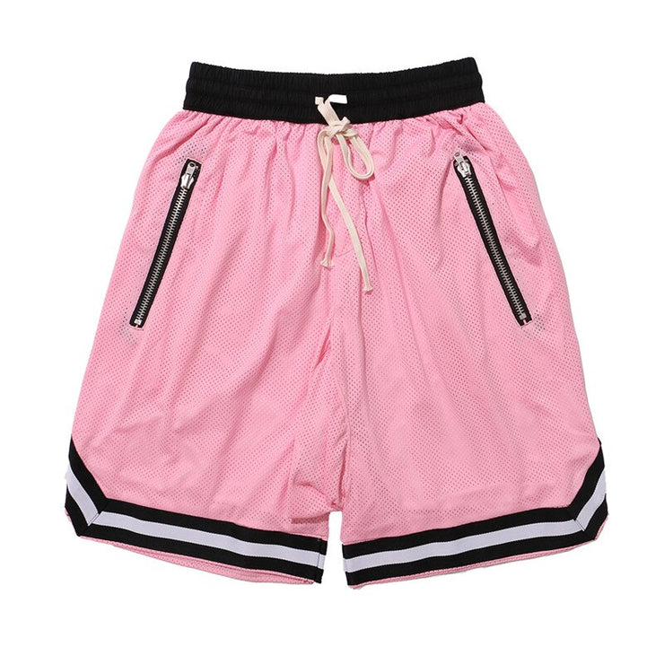 DARK ICON Drop Crotch Mesh Shorts Men 2019 Summer Elastic Waist Double Layer Men's Shorts Hip Hop Shorts 6 Colors URB1™ Vêtements Streetwear URB1™ Vêtements Streetwear dark-icon-drop-cr