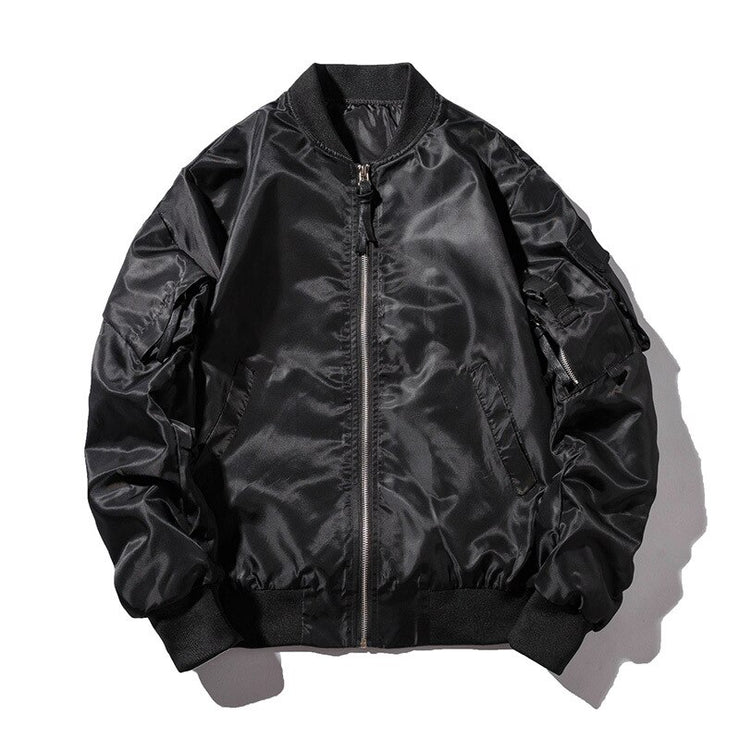 Winter Bomber Jacket Men Air Force Pilot Jacket Male Solid Letter Embroidery Baseball Jacket Couple Hip Hop Streetwear Autumn URB1™ Vêtements Streetwear URB1™ Vêtements Streetwear winte