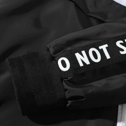 """I DO NOT SEEK"" Veste coupe vent Blanc & Noir - URB1™ - URB1™ Vêtements Streetwear mode boutique streetwear shop"