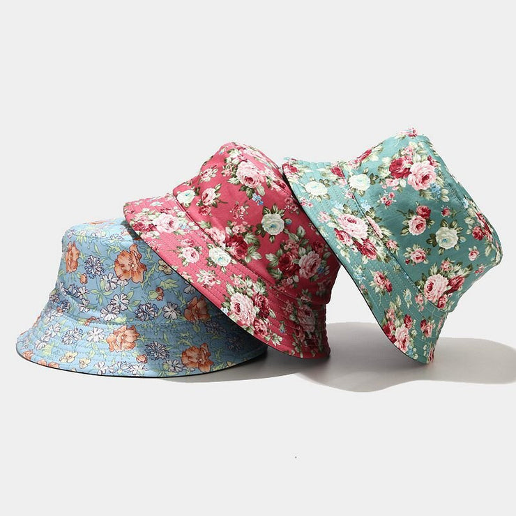 2020 New Fashion Fisherman's Hat Floral Print Bucket Hat Unisex Bob Caps Kpop Cap Hip Hop Gorros Men Women Cotton Streetwear URB1™ Vêtements Streetwear URB1™ Vêtements Streetwear 2020-n