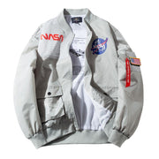 YASUGUOJI Spring SPACE SHUTTLE MISSION Thin MA1 Bomber Jacket Men Hip Hop US Air Force Pilot Flight Korean College Mens Jacket URB1™ Vêtements Streetwear URB1™ Vêtements Streetwear yasu