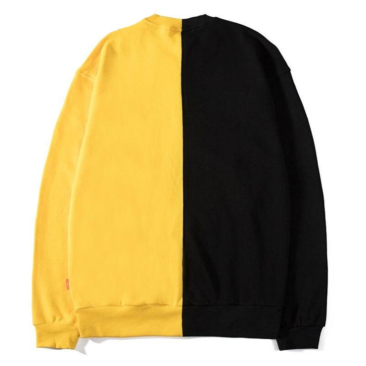 GONTHWID Front Zipper Pocket Two-Tone Color Block Patchwork Pullover Sweatshirts Hoodie Harajuku Hip Hop Casual Streetwear Tops URB1™ Vêtements Streetwear URB1™ Vêtements Streetwear gon