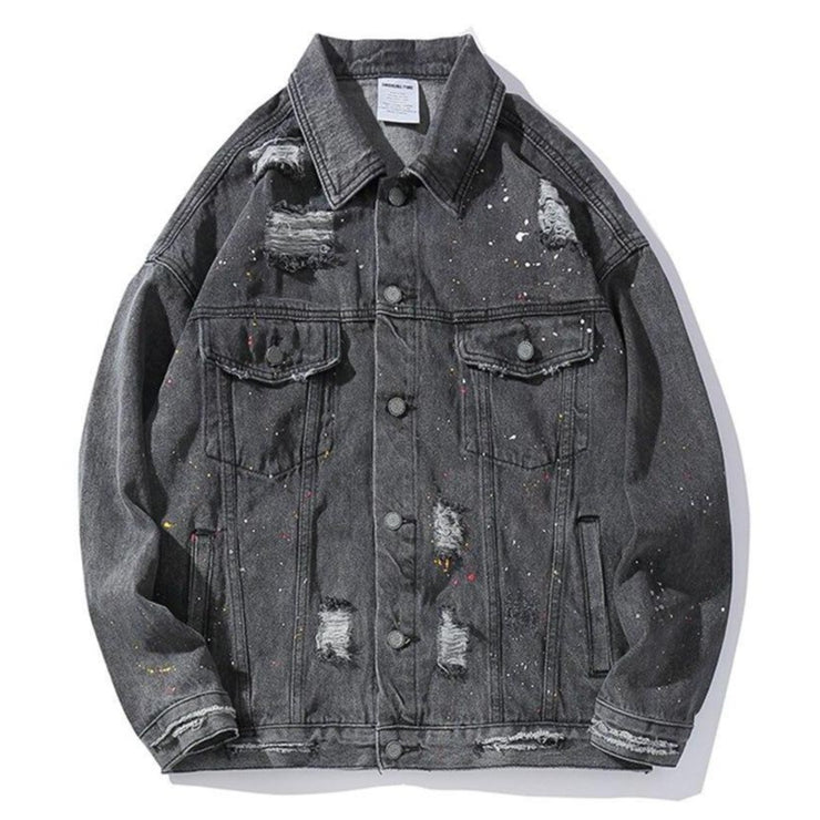 """DESTROYED"" veste en jean denim - URB1™ - URB1™ Vêtements Streetwear mode boutique streetwear shop"