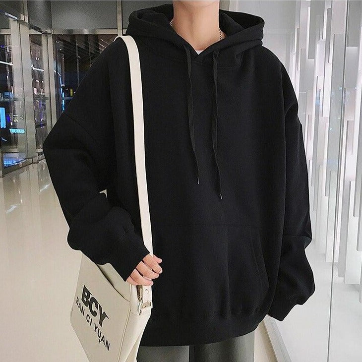 LAPPSTER Men Fleece Colorful Hoodies 2019 Autumn Mens Hip Hop Solid Hooded Sweatshirts Korean Fashions Black Winter Hoodie URB1™ Vêtements Streetwear URB1™ Vêtements Streetwear lappster
