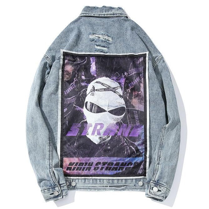 """STRANE"" Veste en jean Denim Bleu - UBR1™ - URB1™ Vêtements Streetwear mode boutique streetwear shop"