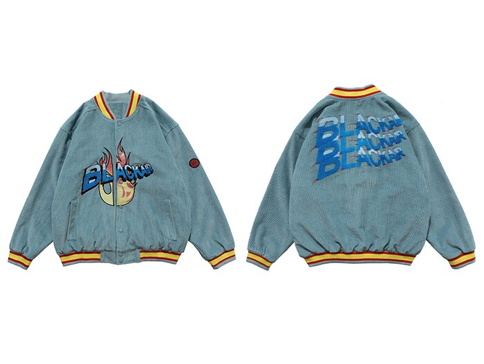 """BLACKAIR"" Veste Bombers Baseball Teddy Gris - URB1™"