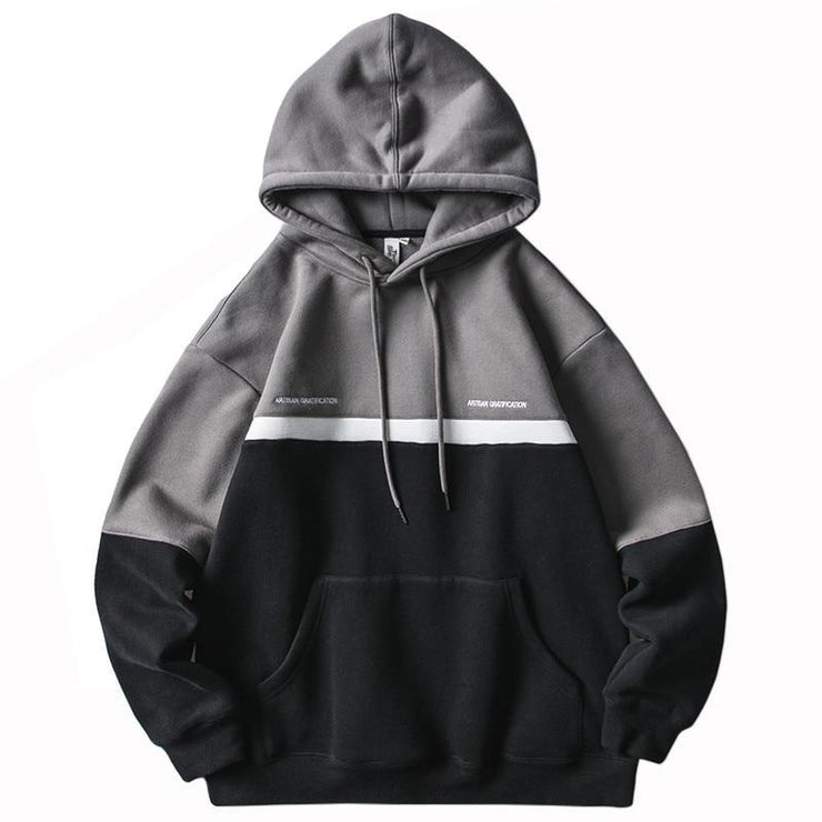 Men Patchwork Hoodie Sweatshirt Hip Hop 2019 Streetwear Color Block Harajuku Hoodie Pullover Cotton Autumn Winter Fleece Hoodies URB1™ Vêtements Streetwear URB1™ Vêtements Streetwear me