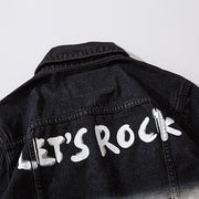 """LET'S ROCK"" Veste en jean Denim - URB1™ - URB1™ Vêtements Streetwear mode boutique streetwear shop"
