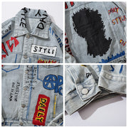 """STYLE"" Veste en jean denim - URB1™ - URB1™ Vêtements Streetwear mode boutique streetwear shop"