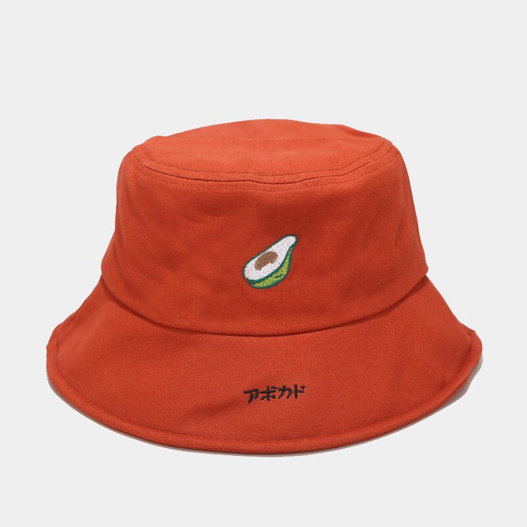 2020 Hat Men and Women New Avocado Fisherman Hat Female Korean Wild Cute Cartoon Basin Caps Japanese Art Student Bucket Hat Caps URB1™ Vêtements Streetwear URB1™ Vêtements Streetwear 20