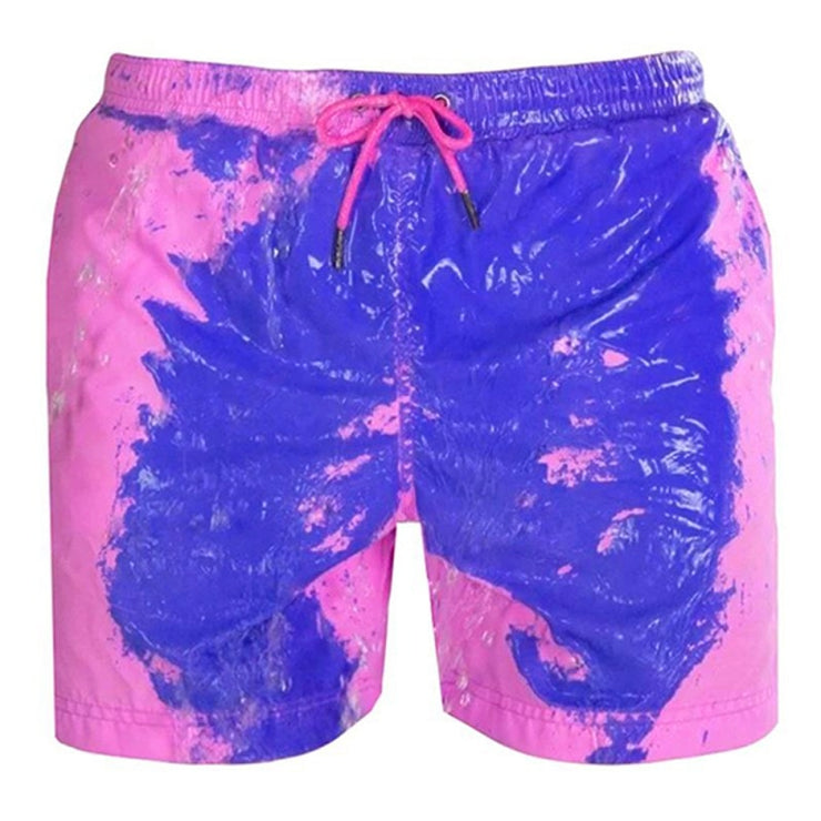Color-changing Beach Shorts Men Quick Dry Swimwear Beach Pants Warm Color Discoloration Shorts Swimming Surfing Board Shorts URB1™ Vêtements Streetwear URB1™ Vêtements Streetwear color-