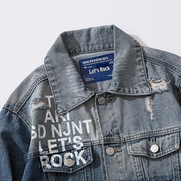 """BLUES"" Veste en jean denim - URB1™ - URB1™ Vêtements Streetwear mode boutique streetwear shop"