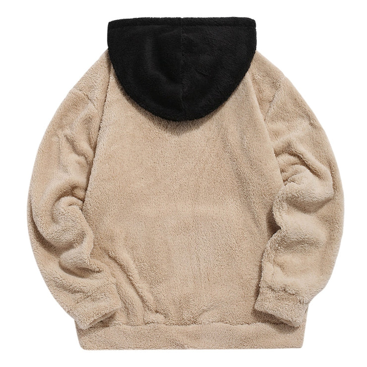 """DESIGN"" Sweat-shirt Beige Hoodie à capuche Molletonné - URB1™"