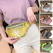 2019 Fashion Women PVC Grid Style Waist Bag Fanny Pack Bum Bag Travel Mash Purse Waist Bag Transparent Small Belt Bag Cool Packs URB1™ Vêtements Streetwear URB1™ Vêtements Streetwear 20