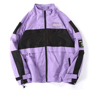 """DÉSINTEGRATION"" Veste coupe vent retro streetwear Violet - URB1™ - URB1™ Vêtements Streetwear mode boutique streetwear shop"