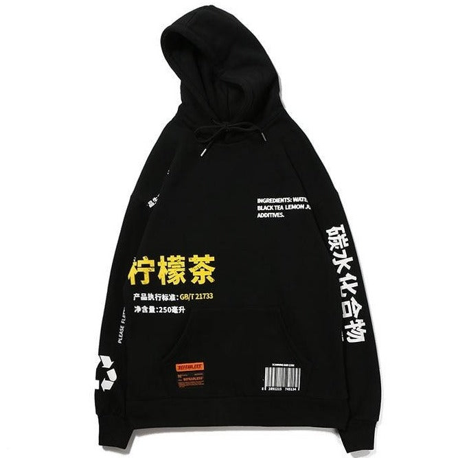 GONTHWID Lemon Tea Printed Fleece Pullover Hoodies Men/Women Casual Hooded Streetwear Sweatshirts Hip Hop Harajuku Male Tops URB1™ Vêtements Streetwear URB1™ Vêtements Streetwear gonthw