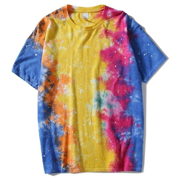 Dark Icon Foil Paint Splatter Tie Dyeing T-shirt Men Round Neck Street Men's Tshirts Casual Tee Shirts Man Top URB1™ Vêtements Streetwear URB1™ Vêtements Streetwear dark-icon-foil-paint