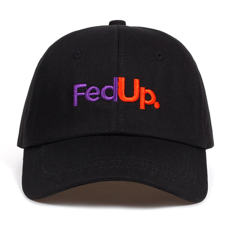 """FED UP"" Casquette baseball Streetwear Noir - URB1™ - URB1™ Vêtements Streetwear mode boutique streetwear shop"