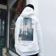 """ALIVE FROM NOW"" Sweatshirt Hoodie à capuche Blanc - URB1™ - URB1™ Vêtements Streetwear mode boutique streetwear shop"