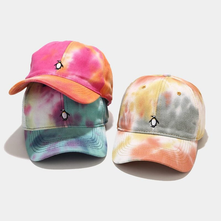"""TIE AND DYE"" Casquette baseball Gris Blanc Orange - URB1™"