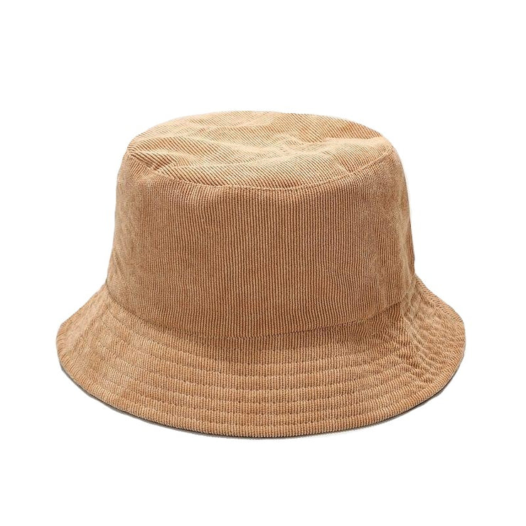 Two Side Reversible Corduroy Bucket Hat For Women Plain Men Panama Outdoor Hiking Beach Fishing Cap Sunscreen Female Sunhat Bob URB1™ Vêtements Streetwear URB1™ Vêtements Streetwear two