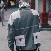 """CARGO"" Veste Coupe Vent Retro Gris - URB1™ - URB1™ Vêtements Streetwear mode boutique streetwear shop"