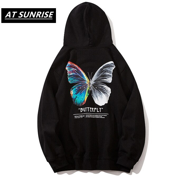 Hip Hop Oversize Hoodie Sweatshirt Men 2020 Streetwear Harajuku Color Butterfly Hooded Loose Hipster Fleece Hoodie Plus Size URB1™ Vêtements Streetwear URB1™ Vêtements Streetwear hip-ho