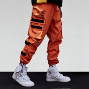 """AR RE"" Pantalon Cargo Streetwear Orange - URB1™ - URB1™ Vêtements Streetwear mode boutique streetwear shop"