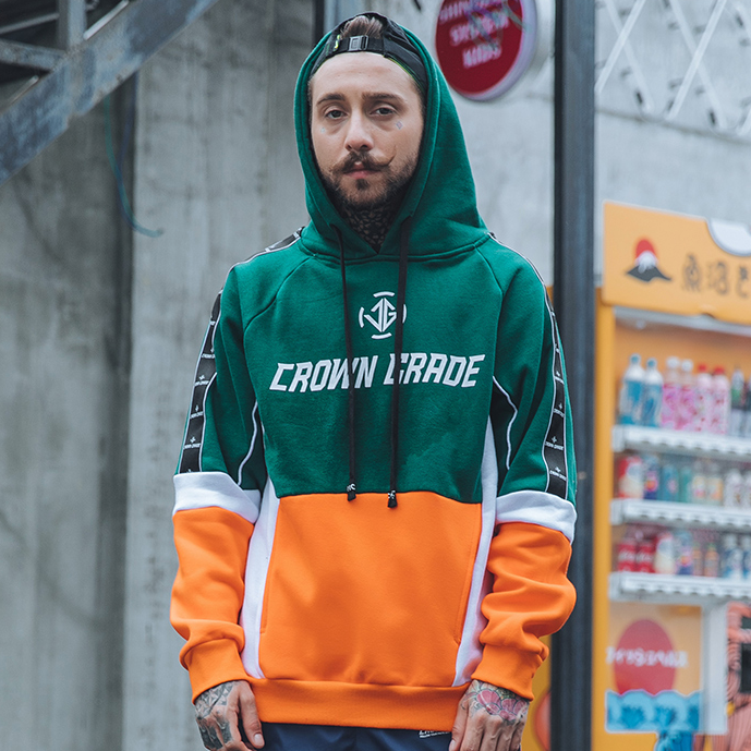 """CROWN GRADE"" Sweat-shirt Hoodie à capuche Vert - URB1™"