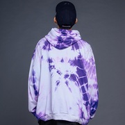 """TIE AND DYE"" Sweat-shirt Hoodie à capuche Noir - URB1™"