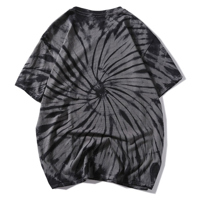 """Tie And Dye"" T-shirt Gris Clair Délavé oversize - URB1™"