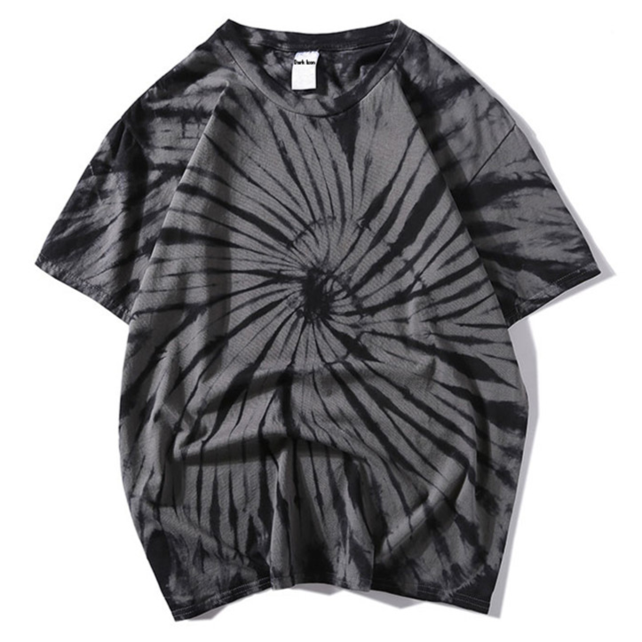 """Tie And Dye"" T-shirt Orange Délavé oversize - URB1™"