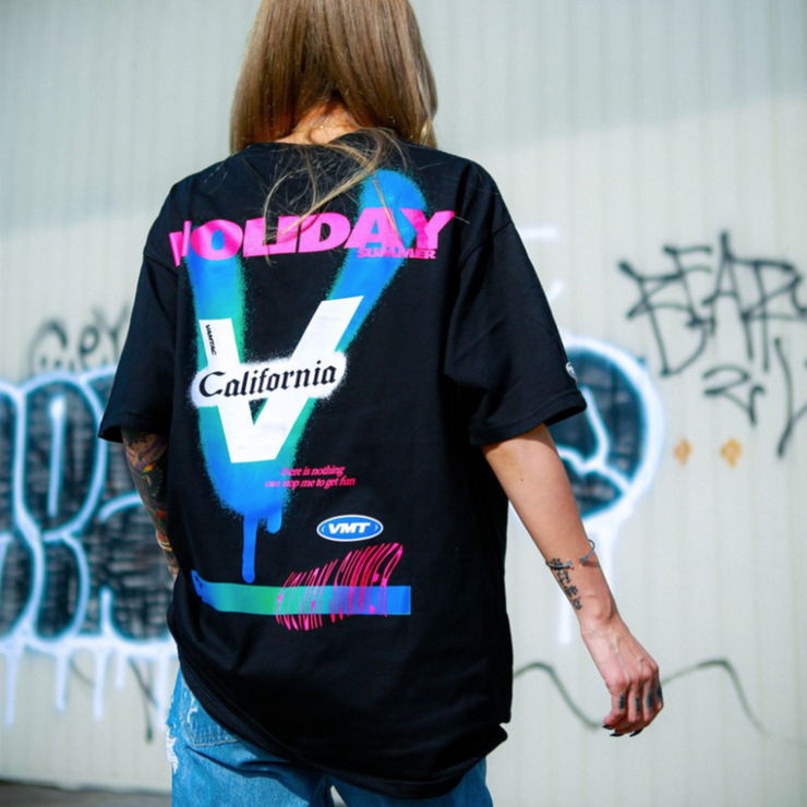 """HOLIDAY"" T-shirt oversize streetwear Blanc - URB1™ - URB1™ Vêtements Streetwear mode boutique streetwear shop"