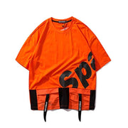 """SPACALINE"" T-shirt Orange Impirmé Oversize - URB1™ - URB1™ Vêtements Streetwear mode boutique streetwear shop"