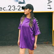 """RE'FUSION"" T-shirt Violet Imprimé Streetwear - URB1™ - URB1™ Vêtements Streetwear mode boutique streetwear shop"
