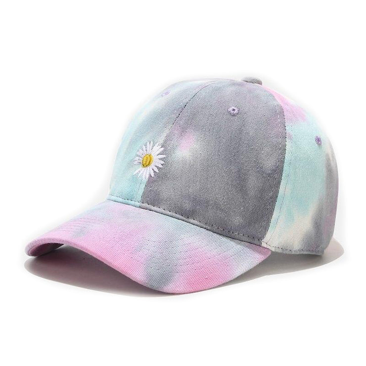 """TIE AND DYE"" Casquette baseball Bleu Violet Jaune - URB1™"