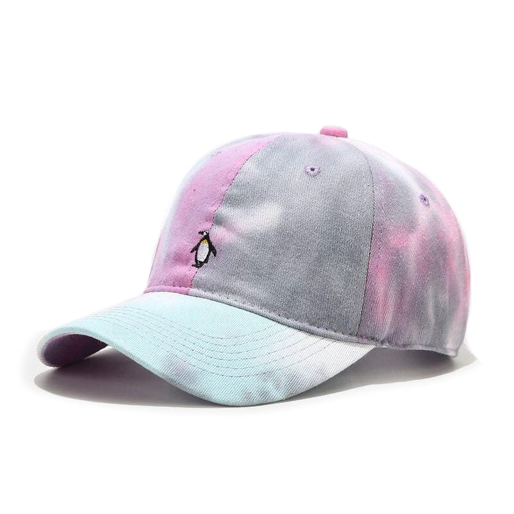 """TIE AND DYE"" Casquette baseball Rose Gris Bleu - URB1™"